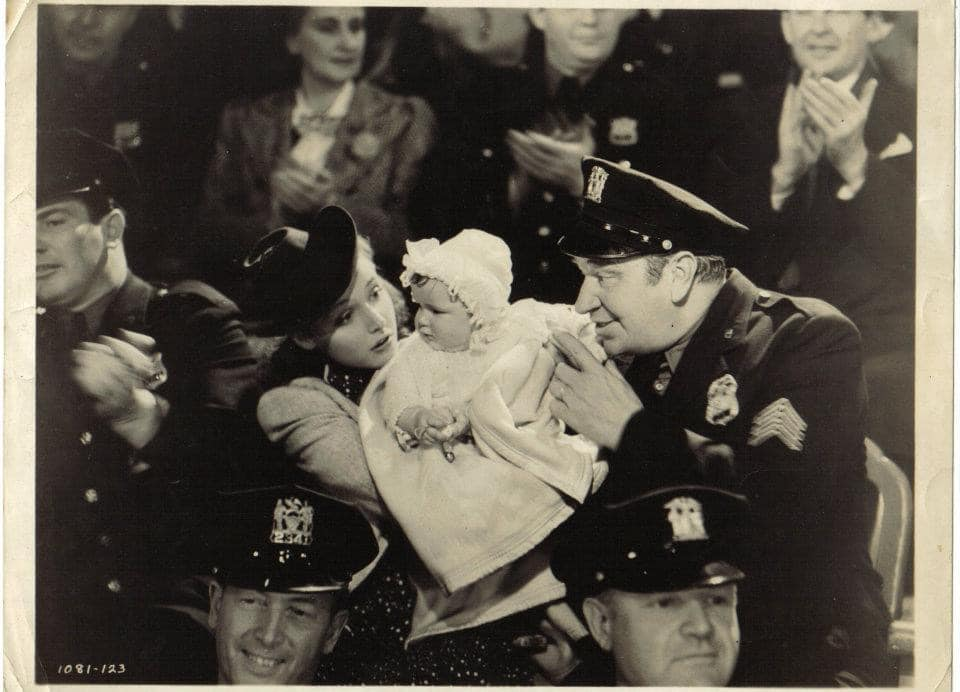 "My grandma is the baby with Wallace Beery and Lorraine Day in ""Sergeant Madden"" (1939)"