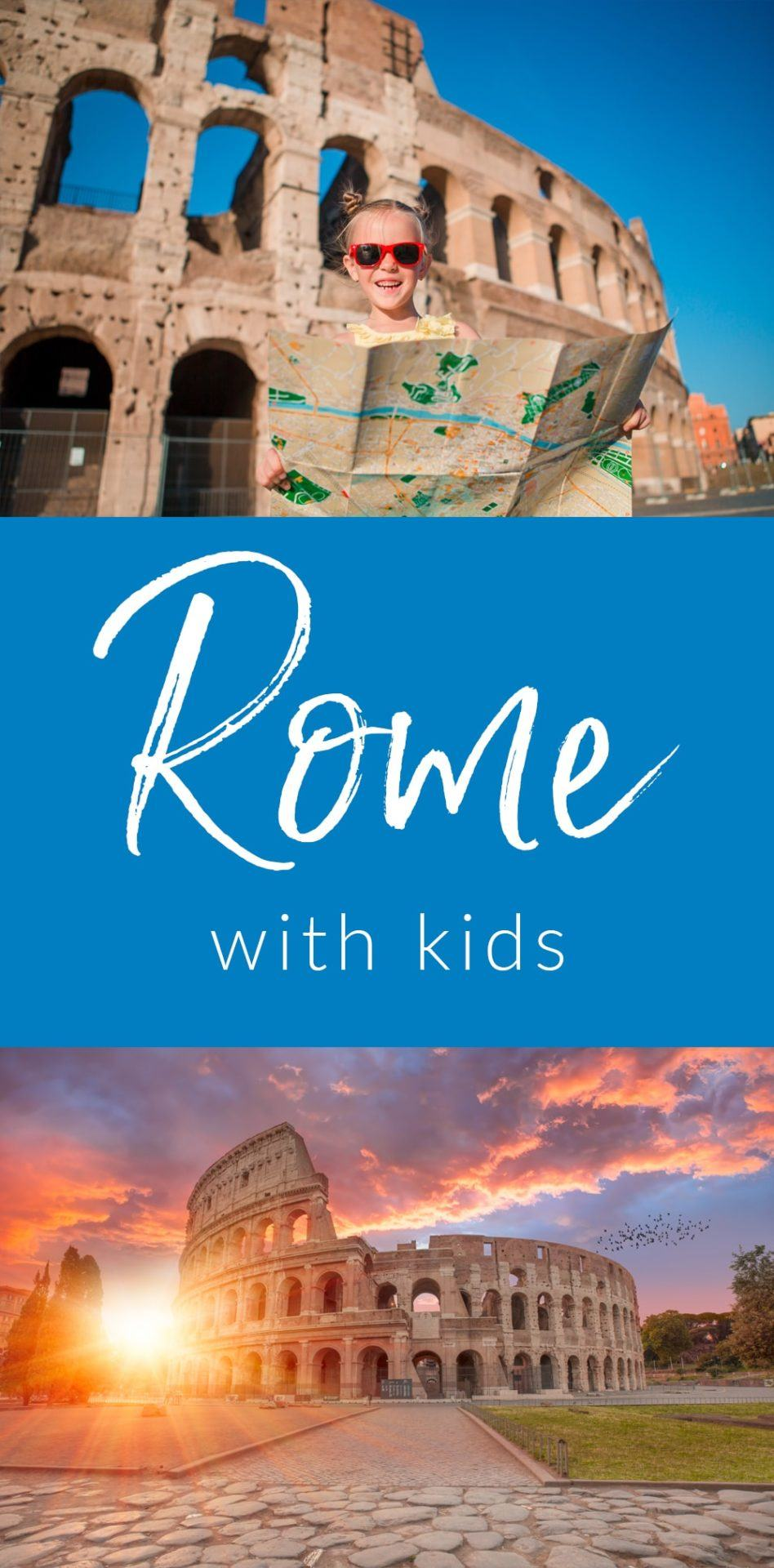 The ancient city of Rome has so much to offer for kids. Education, good food, and beautiful artwork around every corner. Taking kids to Rome can be amazing. Just follow this Guide to Rome with kids. #travel #rome #wanderlust #vacation #italy