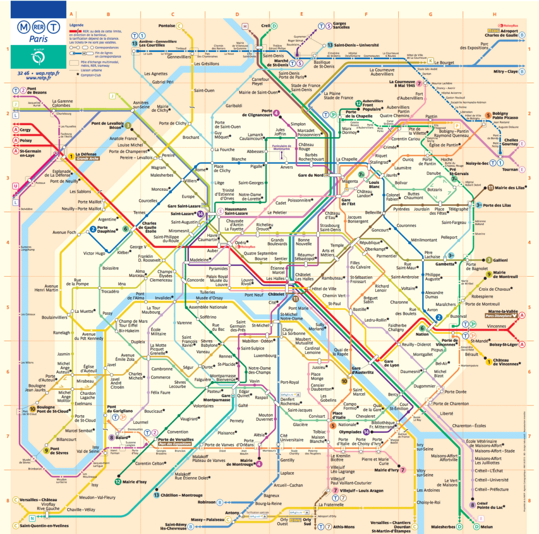 metro map paris with kids
