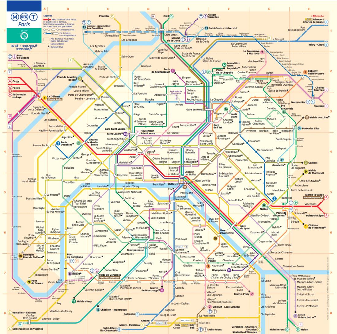 Metro Map Paris with Kids