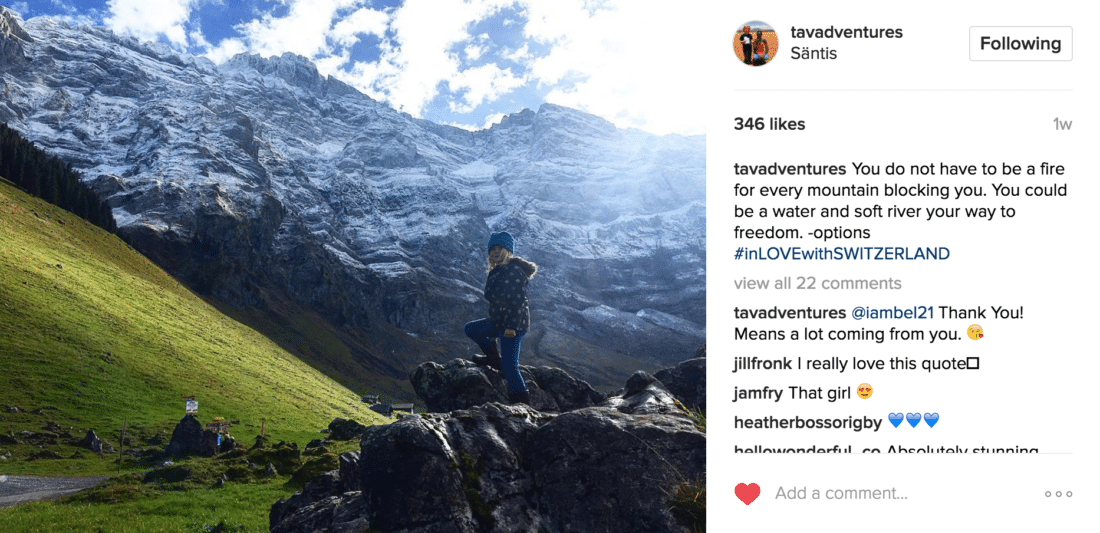family travel instagram