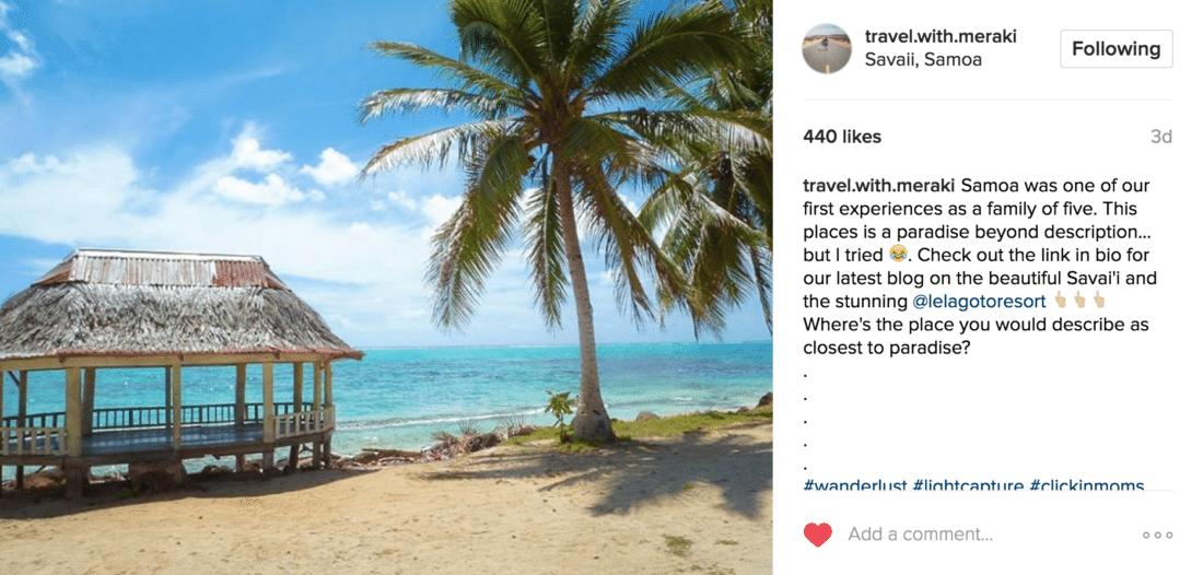 family travel instagram