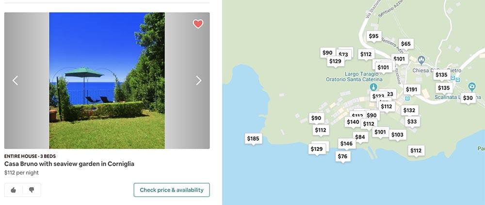 Cinque Terre Airbnb Corniglia