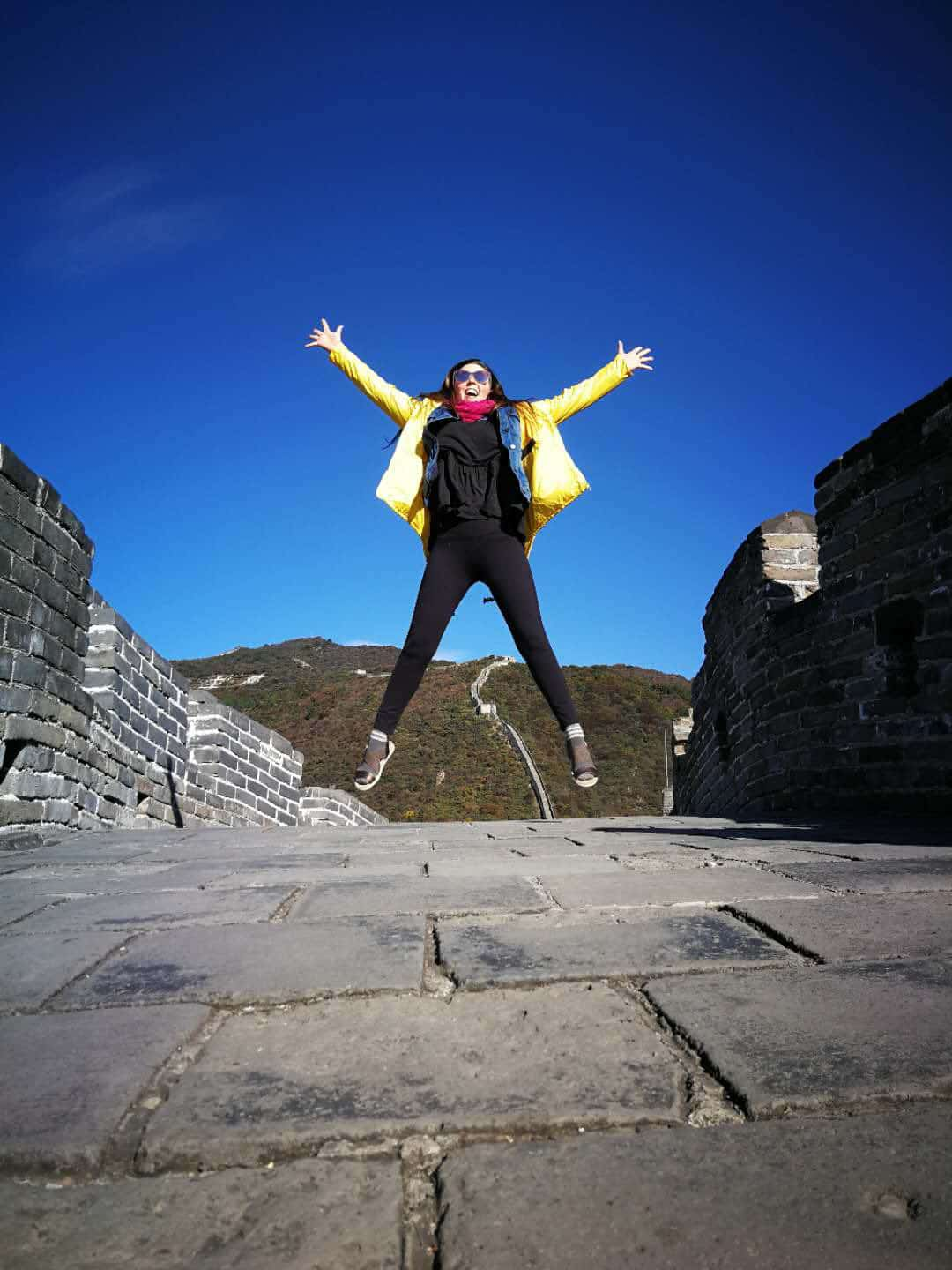 China Visa Layover. Jumping on the Great Wall of China on Beijing Layover to Great Wall of China