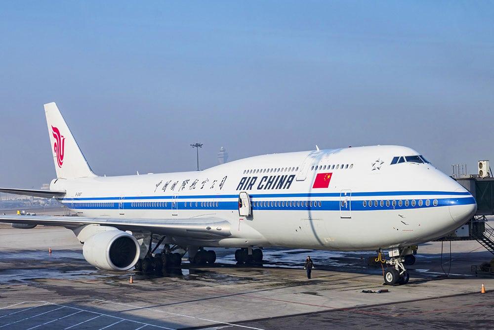 China Visa Layover Air China Airplane