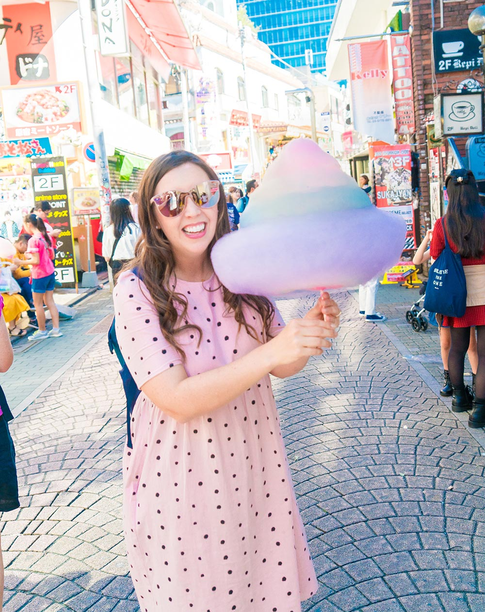 Japan Food Rainbow Cotton Candy