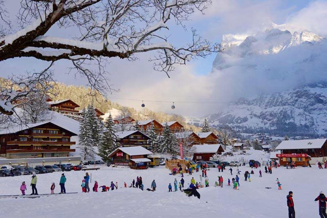 Christmas in Europe Grindelwald Switzerland