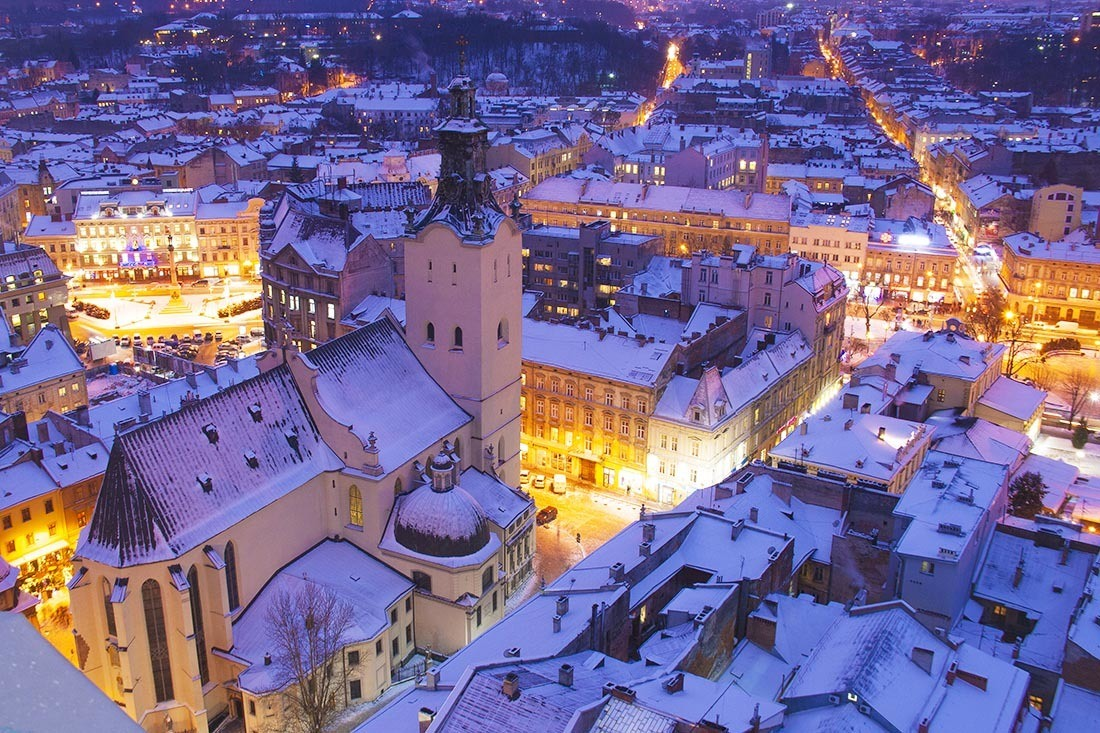 Christmas in Europe Lviv Ukraine