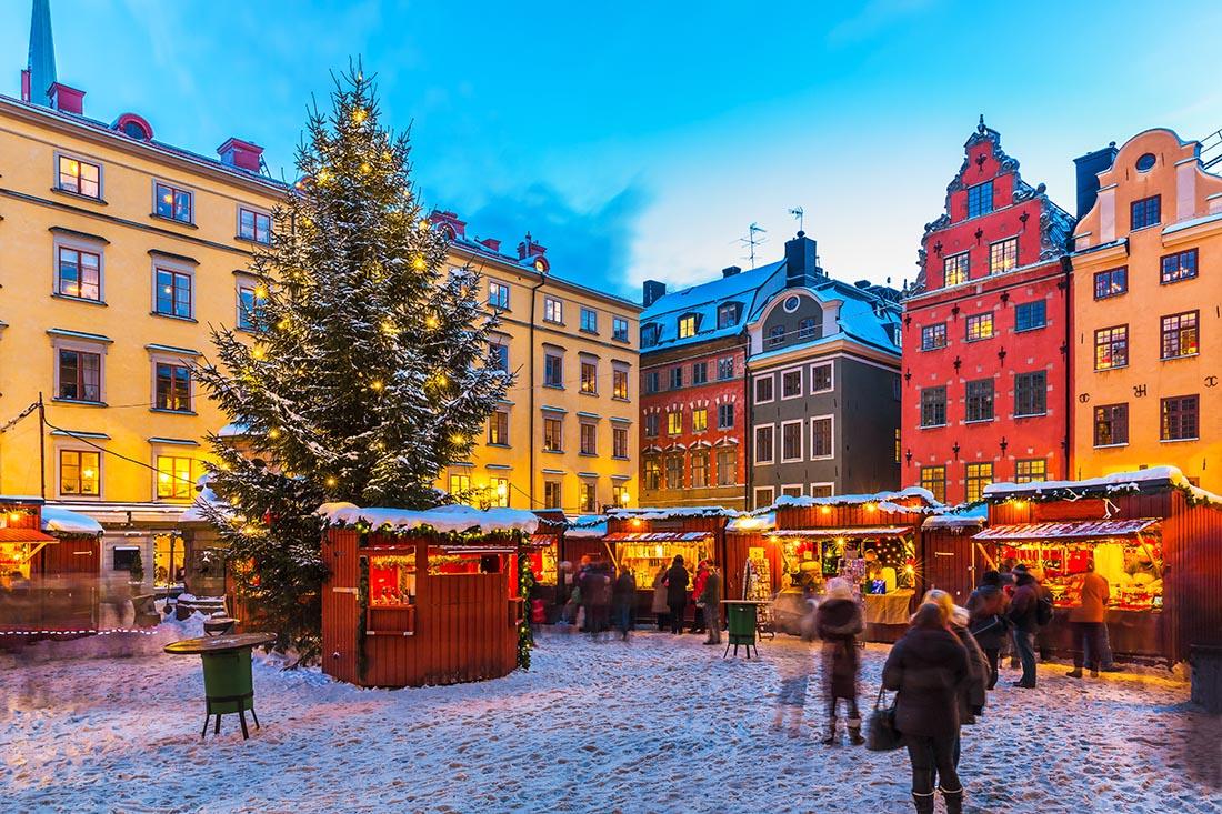 Christmas in Europe Stockholm Sweden