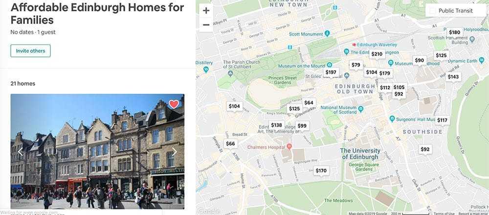 Where to stay in Edinburgh Scotland