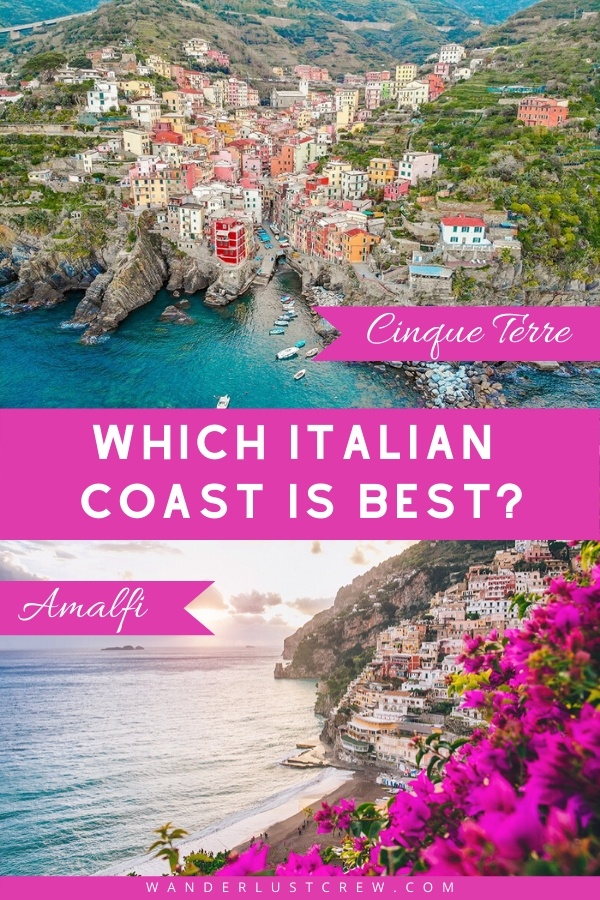 Deciding between Cinque Terre or the Amalfi Coast is a tough choice. This guide will help you decide which one is best for you.